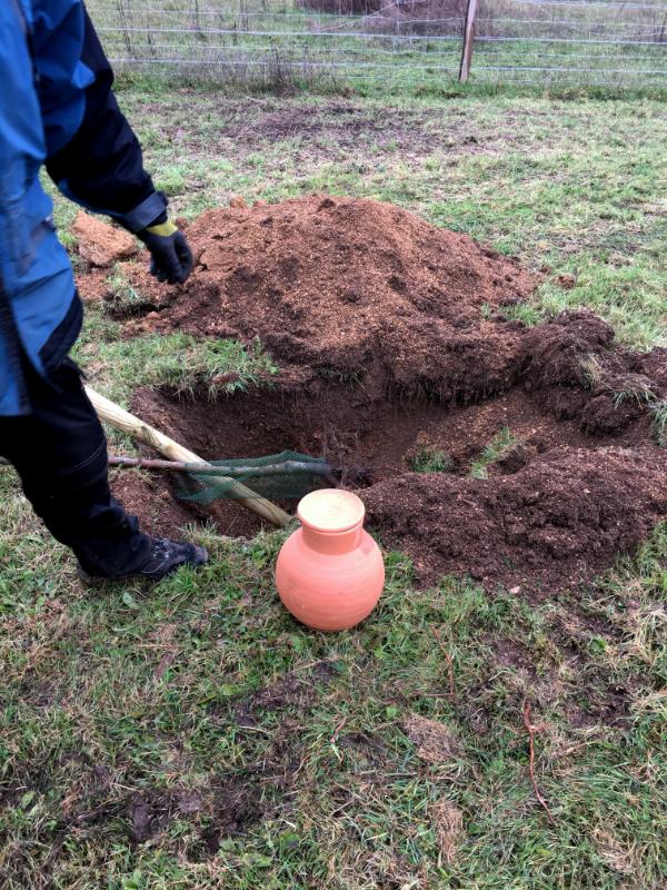 Plantation du verger berrichon et installation des Oyas (1)